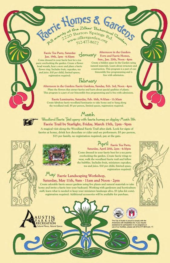 Zilker Park Faerie Homes and Gardens Poster