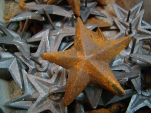Rusty Texas star and metal Texas Stars