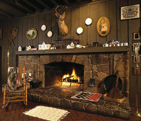 Cracker Barrel fireplace