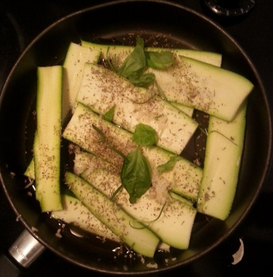 thin sliced zucchini