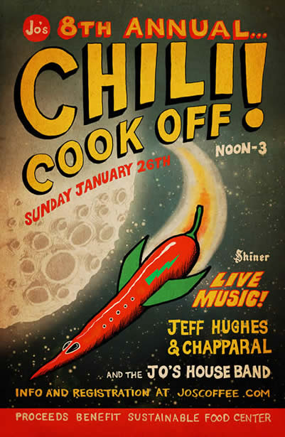 jo's Coffee House Chili Cook Off Poster