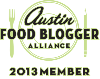 2013 Austin Food Blogger Alliance Badge