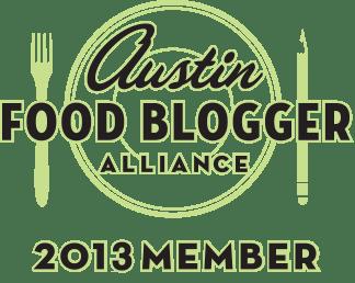 2013 Austin Food Blogger Alliance Badge