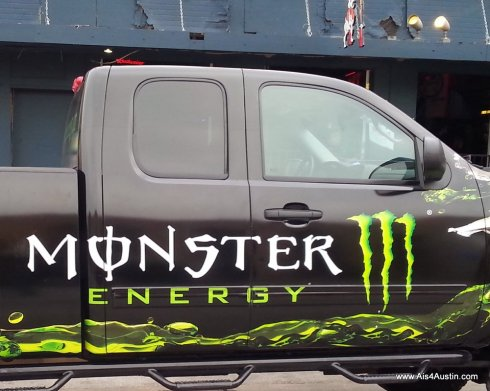 monster drink truck
