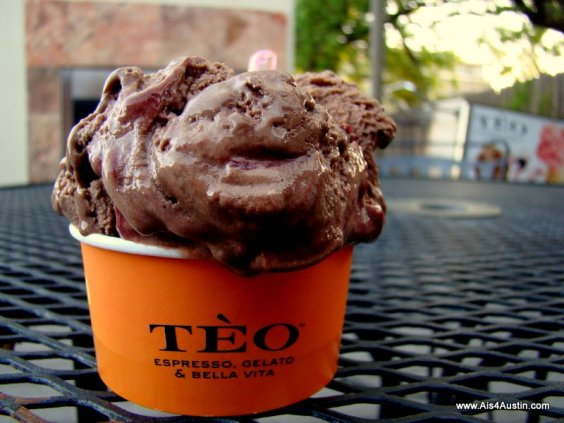 Chocolate gelato at Teo Austin