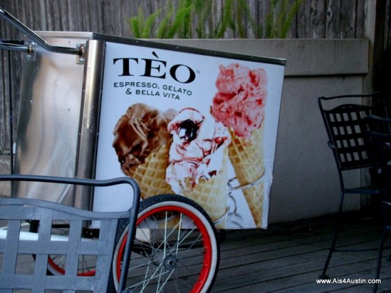 Cart on patio at Teo Austi