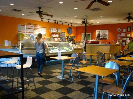 Teo Cafe Austin interior
