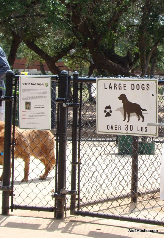 Large dog section Cedar Bark Park