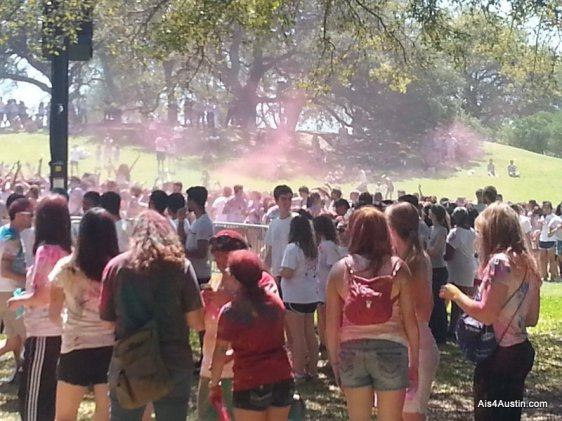 People at Holi Festival in Austin