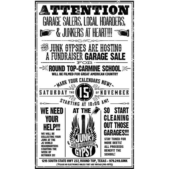 Junk Gypsy Yard Sale