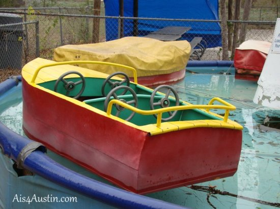 Boat ride at Kiddie Acres