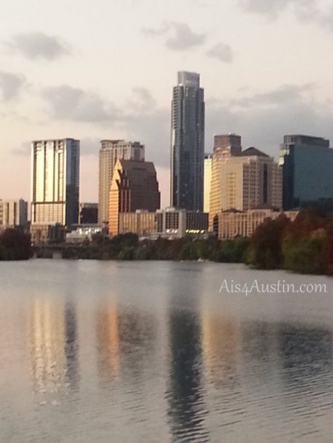 austin skyline at sundown