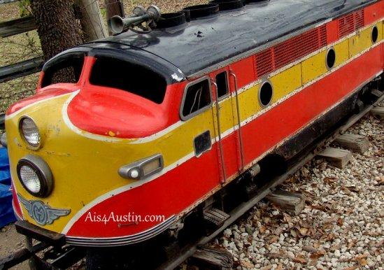 kiddie train at Kiddie Acres